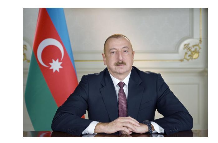 Президент Ильхам Алиев в Агдаме