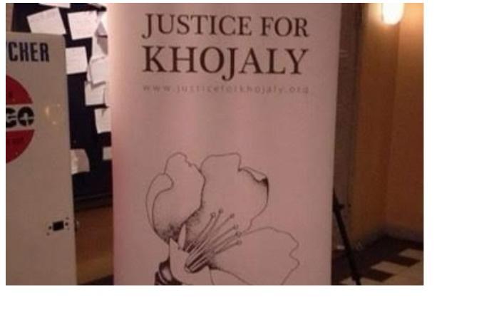 """В Стокгольме размещены плакаты """"Справедливость к Ходжалы!"""""""