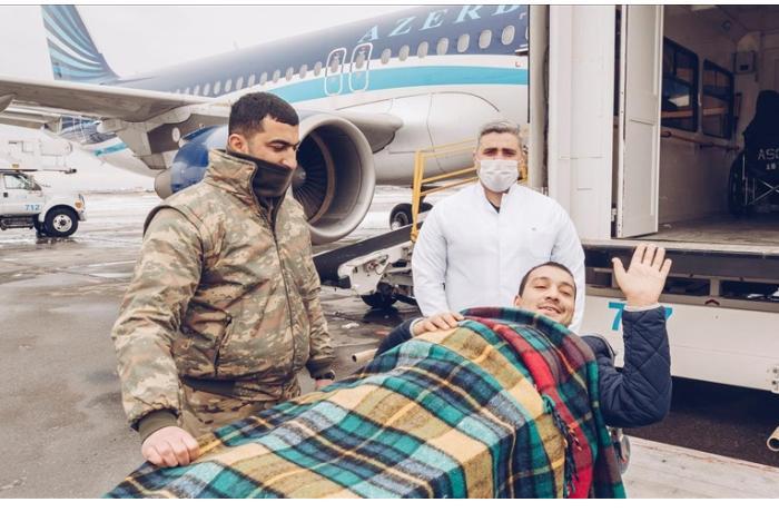 На лечение в Турцию доставлены еще 10 участников Карабахской войны