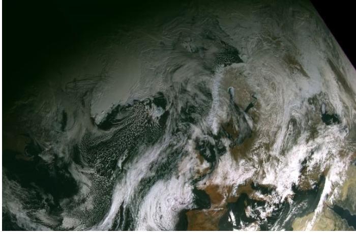 Снимок с орбиты Земли был сделан спутником «Арктика-М» - Роскосмос