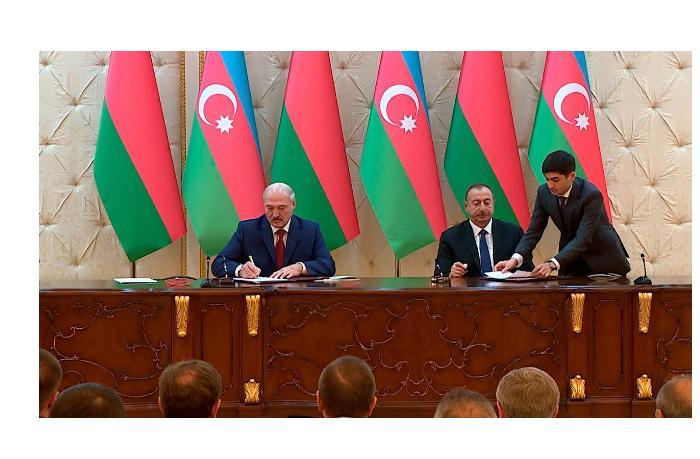 Подписаны документы между Азербайджаном и Беларусью