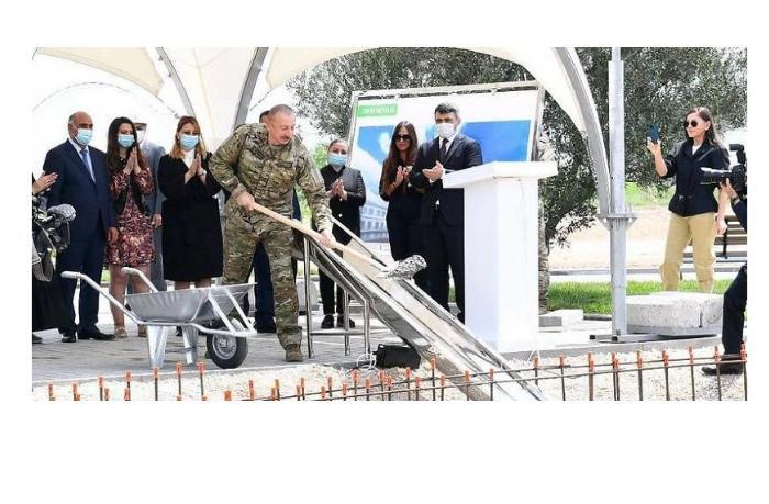 Президент заложил фундамент международного аэропорта в Зангилане