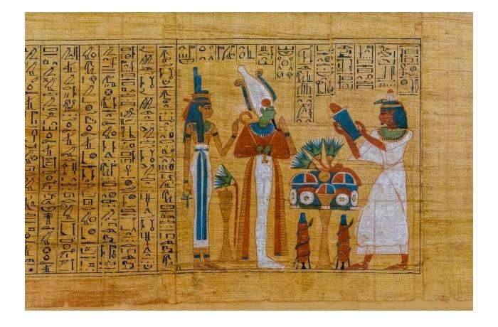 Восстановлен 2300-летний свиток Книги мертвых