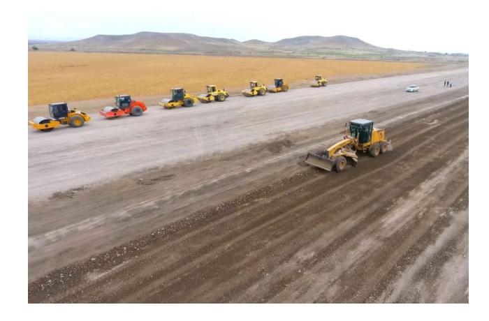 Строительство дороги Горадиз-Джабраил-Зангилан-Агбенд продолжается