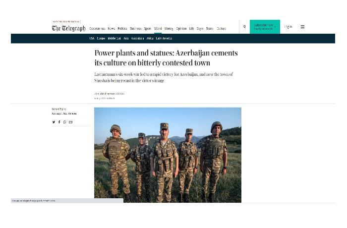Карабах до и после – в статье британского корреспондента The Telegraph